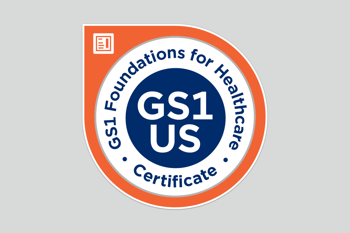 GS1 Foundations for Healthcare Certificate badge