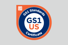 GS1 Standards Certificate badge