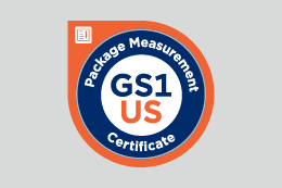 Package Measurement Certificate badge